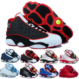 nike air Jordan 13 aj13 retro Designer Mens 2018 13 Sapatos de Basquete Itália Azul Hiper real Preto Gato Azeitona Dos Homens 13 s Formadores Esportes Altitude Amor Respesct EUA 8-13