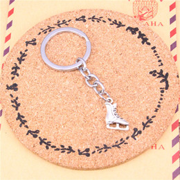 $enCountryForm.capitalKeyWord NZ - Keychain ice skates shoes Pendants DIY Men Jewelry Car Key Chain Ring Holder Souvenir For Gift