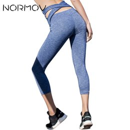 $enCountryForm.capitalKeyWord NZ - NORMOV Solid Sweat Yoga Pants Women High Waist Capri Pants Trousers Female Push Up Leggings Sport Femme Breathable Clothing
