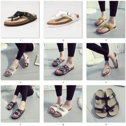 Eva clog shoE online shopping - New Summer women luxury beach cork Slippers Casual Sandals Sequins Slides Double Buckle Clogs Women Slip on Flip Flops Flats Shoe