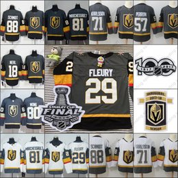 2018new Vegas Golden Knights Stanley Cup final patch 100th men Hockey Jersey  Marc-Andre Fleury James Neal jersey Erik Haula William Karlsson 70696d997