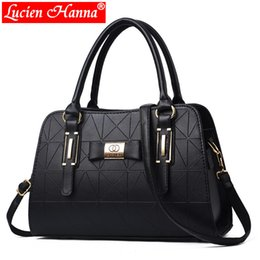 Chinese  Hot Sale Fashion Women Leather Handbag Inclined Female Bow-knot Shoulder Bags Handbags Lady Shopping Tote Soft Messenger Bag Sac manufacturers