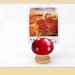 $enCountryForm.capitalKeyWord NZ - 1pcs ZAKKA retro mushroom wooden business card holder crafts solid wood business card packaging set factory wholesale
