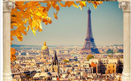 Paris Tower Scenic TV Background Wall Mural 3d Wallpaper Papers For Tv Backdrop