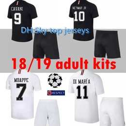 2018 2019 adult kit socks soccer Jersey 18 19 Psg Champions League 7 mbappe  home VERRATTI CAVANI DI MARIA MAILLOT survetement SHIRT 6365a1690