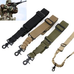 Wholesale Mayitr Adjustable Tactical Gun Rifle Sling Strap One Single Point Strap Safety Belt Rope with Metal Hook