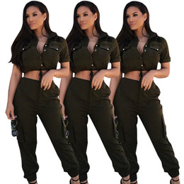 Wholesale working clothes for female online – women s clothing plus size Casual Overalls Work Clothes For Women Two Piece Slim Sexy Jumpsuit Women Female Playsuit Macacao Feminino