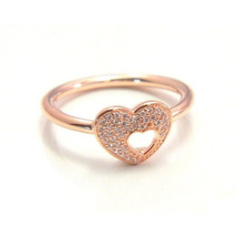 $enCountryForm.capitalKeyWord NZ - Rose gold heart rings original silver fits for pandora style jewelry Shimmering Puzzle Heart Frame 186550CZ H8ale H8