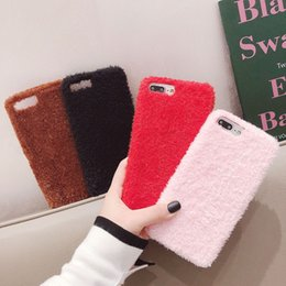 $enCountryForm.capitalKeyWord UK - Teddy Bear Hair Fur Cloth Soft Tpu Case for IPhone X XS MAX XR 10 8 Plus 7 6 6S Plus Phone Back Cover Cute Cotton Warm Case for I Phone X
