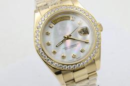 $enCountryForm.capitalKeyWord Canada - AAA Luxury Brand Watch Gold President Day-Date Diamonds Watch Men Stainless Mother Of Pearl Diamond Bezel Automatic WristWatch Watches C7