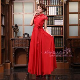 $enCountryForm.capitalKeyWord Australia - free shipping 2018 new red married formal evening wear long dress adult women chinese style slim short design Evening Dresses