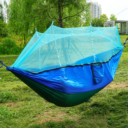 Camping & Hiking Ultralight Portable Hammock Mosquito Net For Outdoor Nylon Material Anti-mosquito Nets With Super Size To Enjoy High Reputation At Home And Abroad Camp Sleeping Gear