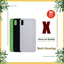 Logo for iphone online shopping - For iPhone X Back Battery Cover Back Glass Logo Adhesive Rear Door Panel Glass Housing Case Repair Replacement Part for iphoneX