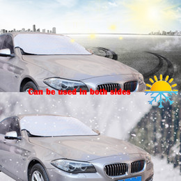 Discount front end car - Thicker Car Front-End Rear Windshield Snow Cover Protection Sun Shade Protector Windshield Visor Sunshade UV Resistant