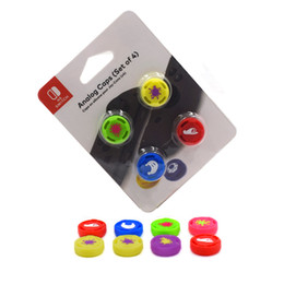 thumb silicone controller NZ - 4pcs set Silicone Analog Thumb Stick Grips Caps for Switch NS JoyCon Controller Sticks Cap Skin for Joy Con Cover High Quality FAST SHIP