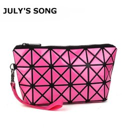 toiletry cosmetic bags 2019 - Beauty Fashion Cosmetic Bag for Women Geometric Zipper Folding Makeup Bag Travel Organizer Cosmetic Bags Pouch Case Toil
