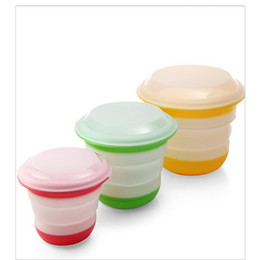 online shopping Plastic Solid Color Folding Lunch Boxes Three Piece Set Scrub Solid Portable Bowl Tourism Bowls With Lids Food Lid jj X