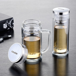 Logo Promotional Gift NZ - Wholesale-Manufacturers selling promotional gifts double glass can print logo daily cup