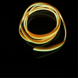 red strip car interior UK - 5M Auto Car Interior LED EL Wire Rope Tube Line Flexible Neon Light Glow EL12V Strip Pathway Lighting