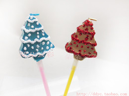 Discount wholesale christmas gift ideas - Lucky Tree Birthday Candle High Quality Gold Blue Blue Lollipop Gift Ideas New Year Christmas