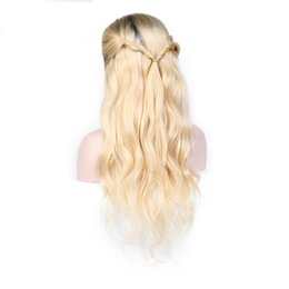 $enCountryForm.capitalKeyWord Australia - On sale 10a 100% unprocessed raw virgin remy human hair long #613 ombre color deep wave full lace cap wig for women