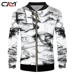 Smoking jacketS online shopping - CJLM Hot Sale Men s Jacket Cool Print Watercolor Smoking Ink D Jackets Coats Man Hiphop Punk Tracksuits Stand Collar Overcoats