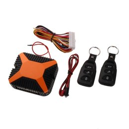 China VODOOL Car Alarm Security System 12V Car Burglar Alarm Central Door Lock Keyless Entry Security System Key Remote Control cheap keyed entry locks suppliers