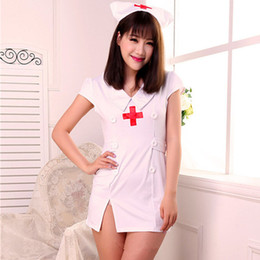 sexy stripper clothing NZ - Spot new women's nurse uniforms role playing fantasia costumes sexy lingerie nightwear erotic lingerie stripper clothes
