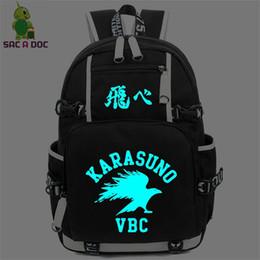 Discount anime laptop - Anime Haikiyu Karasuno Luminous Backpack for Teens Students Schoolbags Women Men Laptop Backpack Fashion Travel Shoulder
