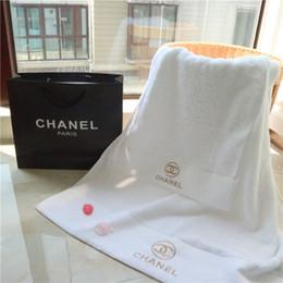 2018 Dois pcs conjuntos de toalha bordada crianças roupas adulto conforto moda toalha de algodão de pelúcia de duas peças simples toalha branca