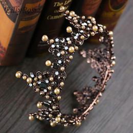 $enCountryForm.capitalKeyWord NZ - 3 Style Court Retro Baroque Bridal Tiara Bride Queen King Crown Vintage Wedding Hair Jewelry Accessories Women Pageant Prom Headpiece 2018