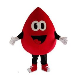 ivory fancy dress UK - Red blood drop mascot costume cartoon character fancy dress carnival costume anime kits mascot