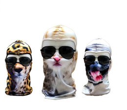 $enCountryForm.capitalKeyWord NZ - Hot Sale 3D Cap Dog Animal face mask Outdoor Sports Bicycle Cycling Motorcycle Masks Ski Hood Hat Veil Balaclava UV Full Face Mask