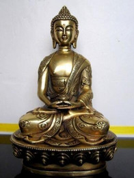 Wood Art Sculpture Australia - Elaborate Chinese Tibetan Buddhis Amitabha brass buddha statue sculpture