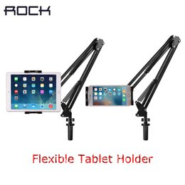 Chinese  ROCK Flexible Tablet Phone Holder For ipad 2 3 4 For iPhone Samsung Long Arm Lazy People Bed Desktop Stand Mount manufacturers
