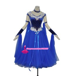 $enCountryForm.capitalKeyWord Canada - Ballroom Dance Competition Dress Top Quality Flamenco Dancing Wear For Women Blue Standard Tango Waltz Ballroom Dresses