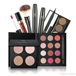 7styles / set Huamianli maquiagem 4 cores Pó compacto da sombra sobrancelha Blush escova da composição cosmético Kit Make Up Tools venda por atacado