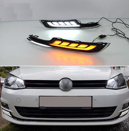 $enCountryForm.capitalKeyWord Canada - 2Pcs LED Daytime Running Light For VW Volkswagen Golf 7 2013 2014 2015 2016 Car Accessories 12V DRL Fog Lamp cover