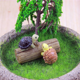 Wholesale Micro Landscape Ornament Simulation Small Tortoise Manual Natural Resin Artificial Lovely Mini DIY Fairy Garden Miniatures xj bb