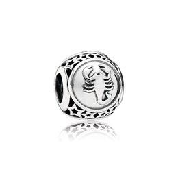 Vente en gros FAHMI 100% Argent Sterling 1: 1 Original Authentique Classique 791943-1 Scorpion Ajouré De Mode Glamour Rétro Perles De Mariage Femmes Bijoux
