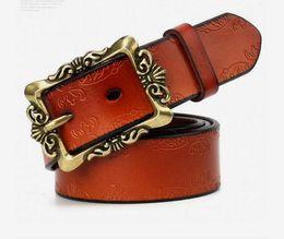 Leather Belt Decorations Canada - 2018 Retro lady belt genuine leather simple waistband fashionable casual decoration belt leather fashion, free shipping