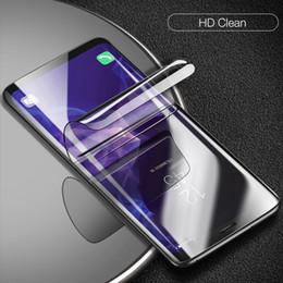 Venta al por mayor de Carcasa completa de película de hidrogel para Samsung Galaxy S10 S10Lite S10 Plus 7 9 iPhone XS XS Max XR Protector de pantalla suave