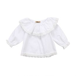 Pretty Newborn Baby Girls Infant Kids Princess Lace Collar Cotton Long  Sleeve Tops Blouse Shirts Clothes Shirt Outwear Sundress