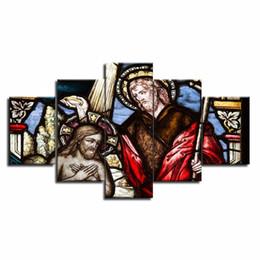 $enCountryForm.capitalKeyWord UK - Large Christian Crosses Cross Landscape Wall Art Christ Posters Canvas Prints Home Decor 5 Panel Painting Artwork Framed Y18102209