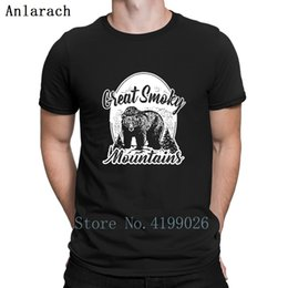 White Shirts Styles Designs For Men Australia - Smoky Mountains T-Shirt Super Cute Homme Summer Style T Shirt For Men Kawaii Designs Cotton Anlarach Tops