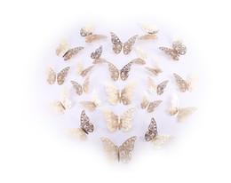 $enCountryForm.capitalKeyWord Australia - Creative Wedding Decoration 3D Refrigerator Butterfly Wall Decoration Sticks Window Door Children Decoration of your house