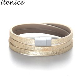 Discount classic style jewelry - ItenFashion Jewelry Classic Modern Style Youth Storm Durable High Quality Bracelets Magnet Wrap Leather Bracelet For Wom
