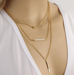 $enCountryForm.capitalKeyWord NZ - New Style European and American hot style jewelry is beautiful, fashionable, simple, and multi-layer pearl necklace is fashionable, classic