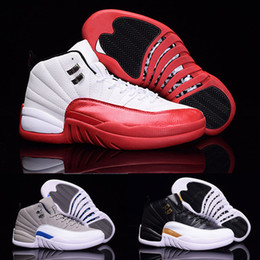 cherry cushion 2019 - 2018 Mens Basketball Shoes 12 12s TAXI Playoff BLAck Flu Game Cherry 12s XII Men Sneakers boots Free Shipping cheap cher