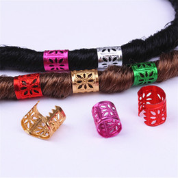 Wholesale Hair Beads For Kids Box Braids Hair Accessories Dreadlock Cuffs Hair Clips Adjustable Extension Beads H1465